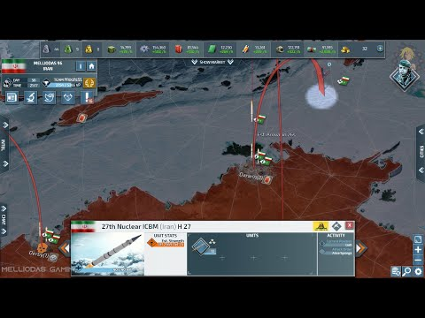 Conflict Of Nations - The Huge Power of ICBM's ( 30 Max Level Missiles ) |