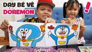 Dạy bé học vẽ Doremon từng bước một rất dễ hiểu