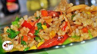 Рис с курицей и овощами! Очень вкусно, ароматно и сытно.