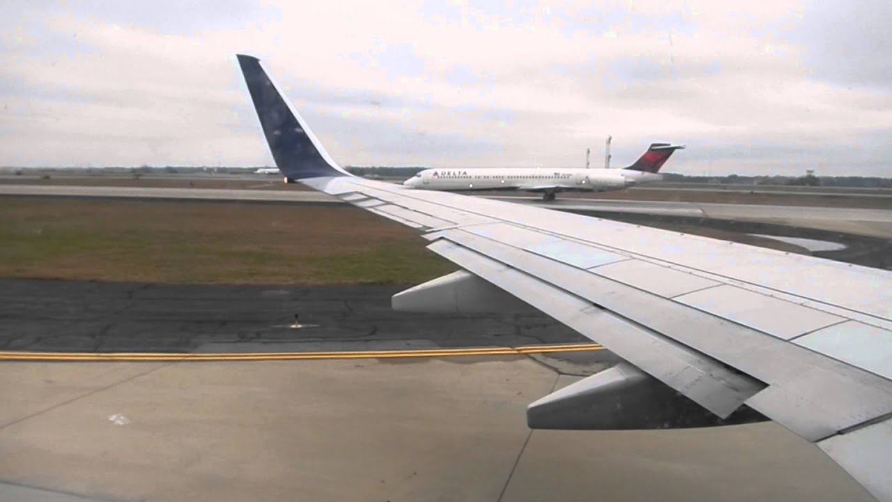 Delta Airlines Boeing 737 800 Taxi Amp Takeoff From Atlanta