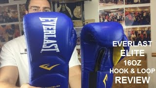 Everlast Elite Boxing Training Gloves 16oz Hook amp Loop review by ratethisgear