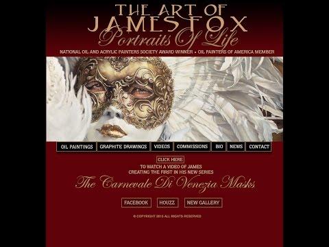 Carnival of Venice,2015 James Fox Artist, Painting Carnevale Di Venezia,Masks 2