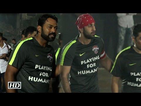 Ranbir, Leander, Dino, Shabbir plays Charity Football Match