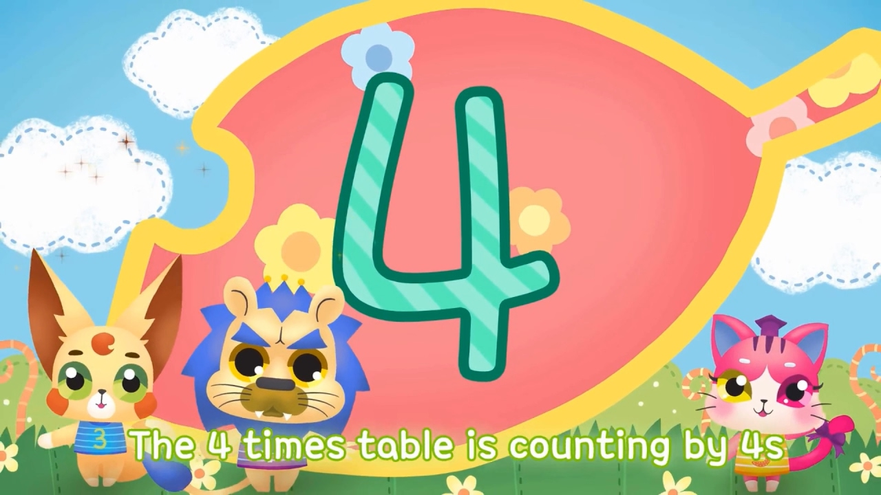 4x multiplication table song kids childrens song youtube 4x multiplication table song kids childrens song gamestrikefo Choice Image
