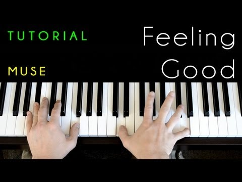Feeling Good (piano tutorial & cover) Muse, Michael Buble - YouTube