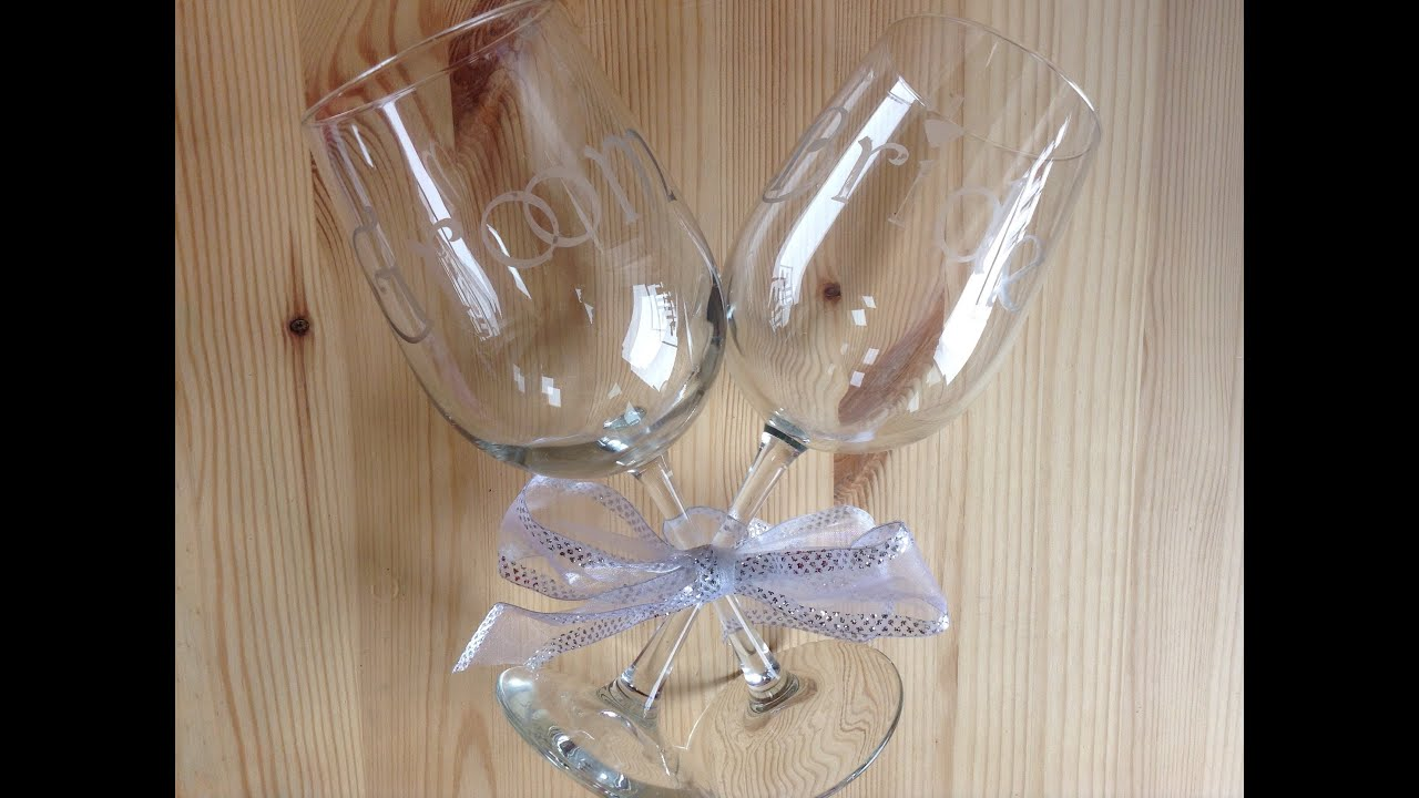 How To Make Custom Etched Wine Glasses With Your