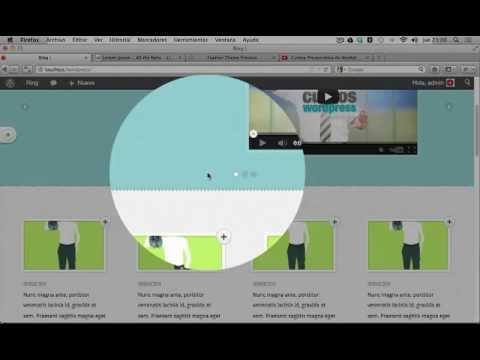 Wordpress Tutorial Español | Configurar opciones Homepage (Tema ...