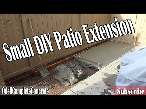 How to Extend a Small DIY Concrete Patio