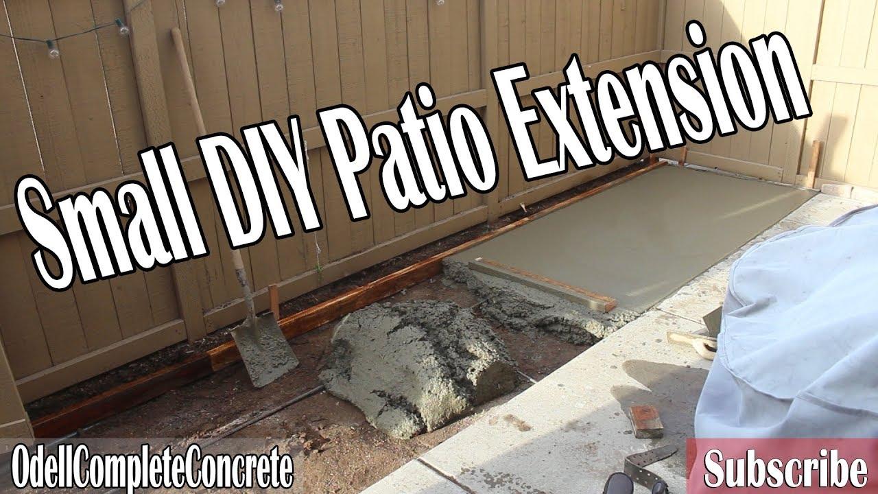 how to extend a small diy concrete patio - Diy Concrete Patio