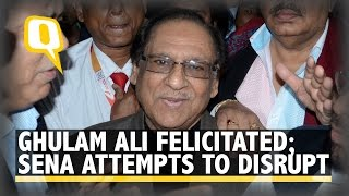 The Quint: Ghulam Ali presented Award, Sena's bid to stage protest foiled
