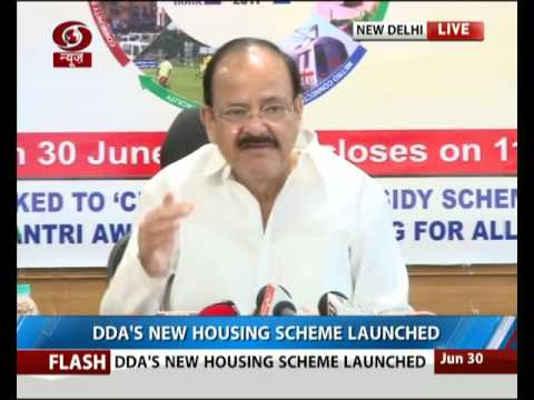 Urban Development minister launches DDA Aawasiya Yojana 2017
