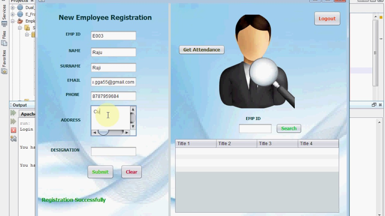 employee attendance system using qr code in java final year