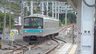 【JR奈良線高速化】1線スルー化工事が完了した棚倉駅 2018年11月の状況