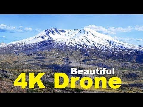 MUST SEE! Mount St. Helens - Stunning 4K Drone video - 37 years, May, 18, 1980 Volcanic Eruption