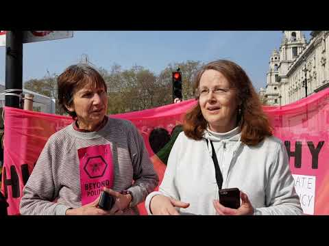 ing Some Extinction Rebellion Activists in London