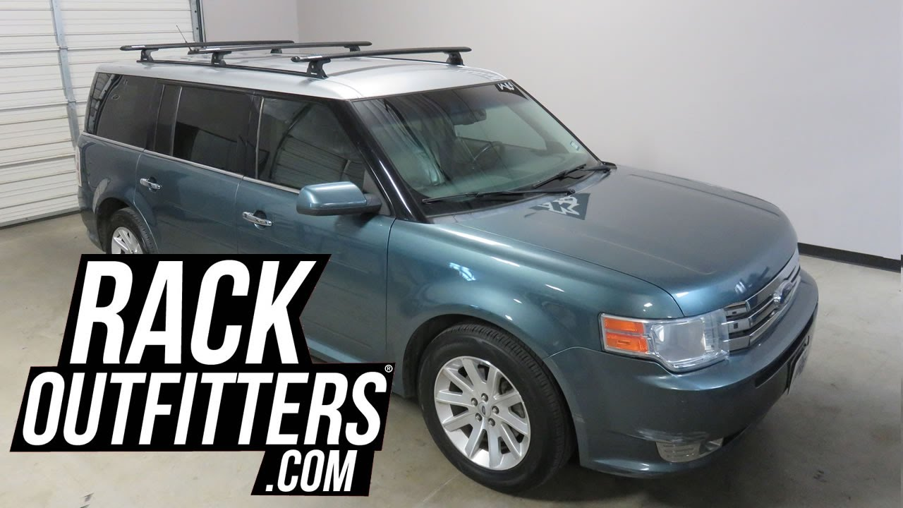 ford flex with rhino rack tracks and quick mount vortex 3 bar roof rack