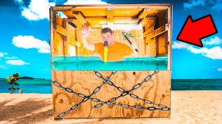 ESCAPE The UNBREAKABLE Box UNDERWATER! Or stay 24 Hours (PRANK)
