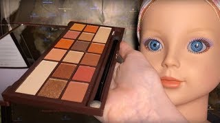 ASMR Makeup Application on Doll Head (Whispered)