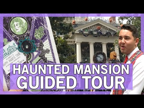 2016 Happy Haunts Disneyland Guided Tour ft The Haunted Mansion!