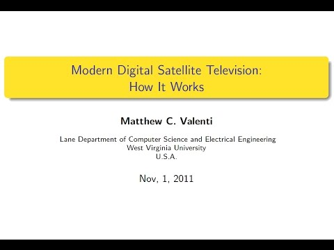 Modern digital satellite television: How it works