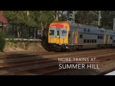 MORE commuter and metro trains at Summer Hill station – Rare S set sighting