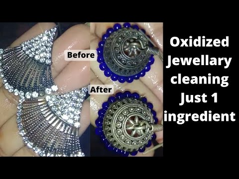 Oxidized silver Jewellery|Earrings cleaning hack|| only 1 ingredient
