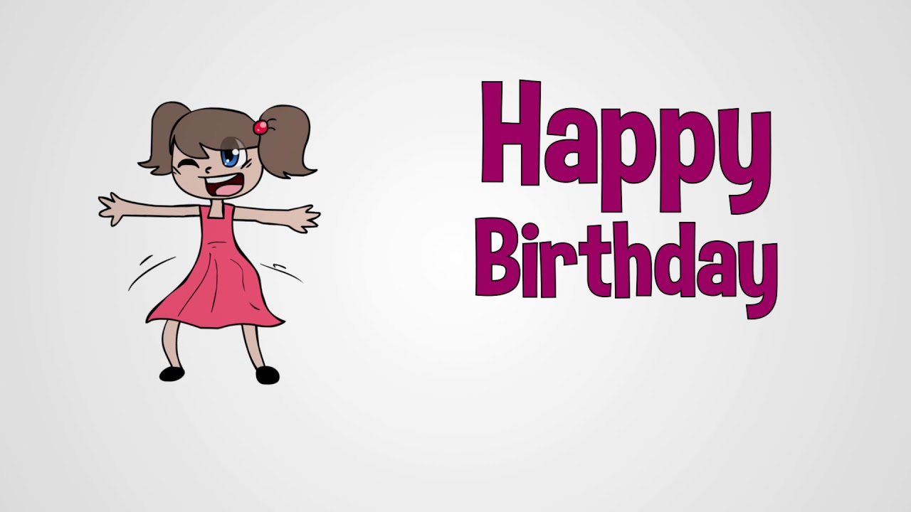 Happy Birthday Song for Girls (girl vocal) by Mark D  Pencil