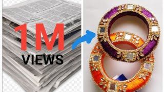 Latest designer kada bangles// best out of waste diy 2019