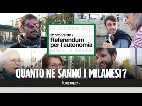 Referendum per l'autonomia: quanto ne sanno (veramente) i milanesi?