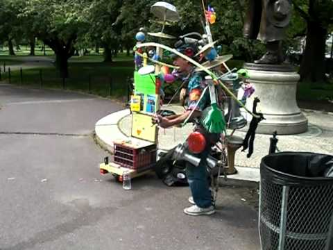 One Man Band at Boston Public Garden