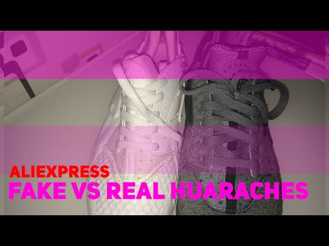 aliexpress-tripple-white-huaraches-vs-authentic-huaraches-comparison