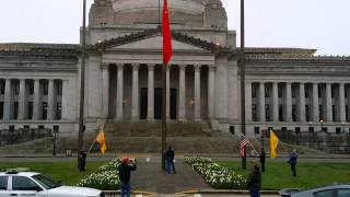 Patriots Demand removal of communist flag