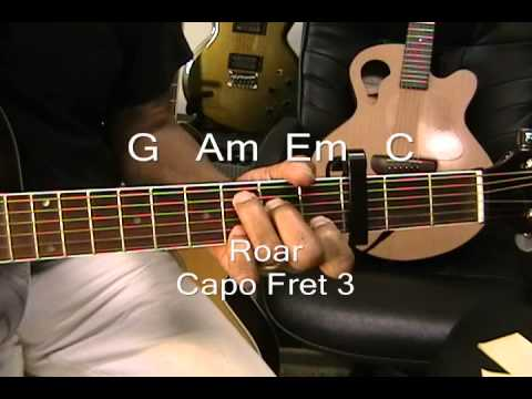 Katy Perry ROAR & UNCONDITIONALLY 2 FOR TUESDAY Cover / Lesson Both Songs On Guitar