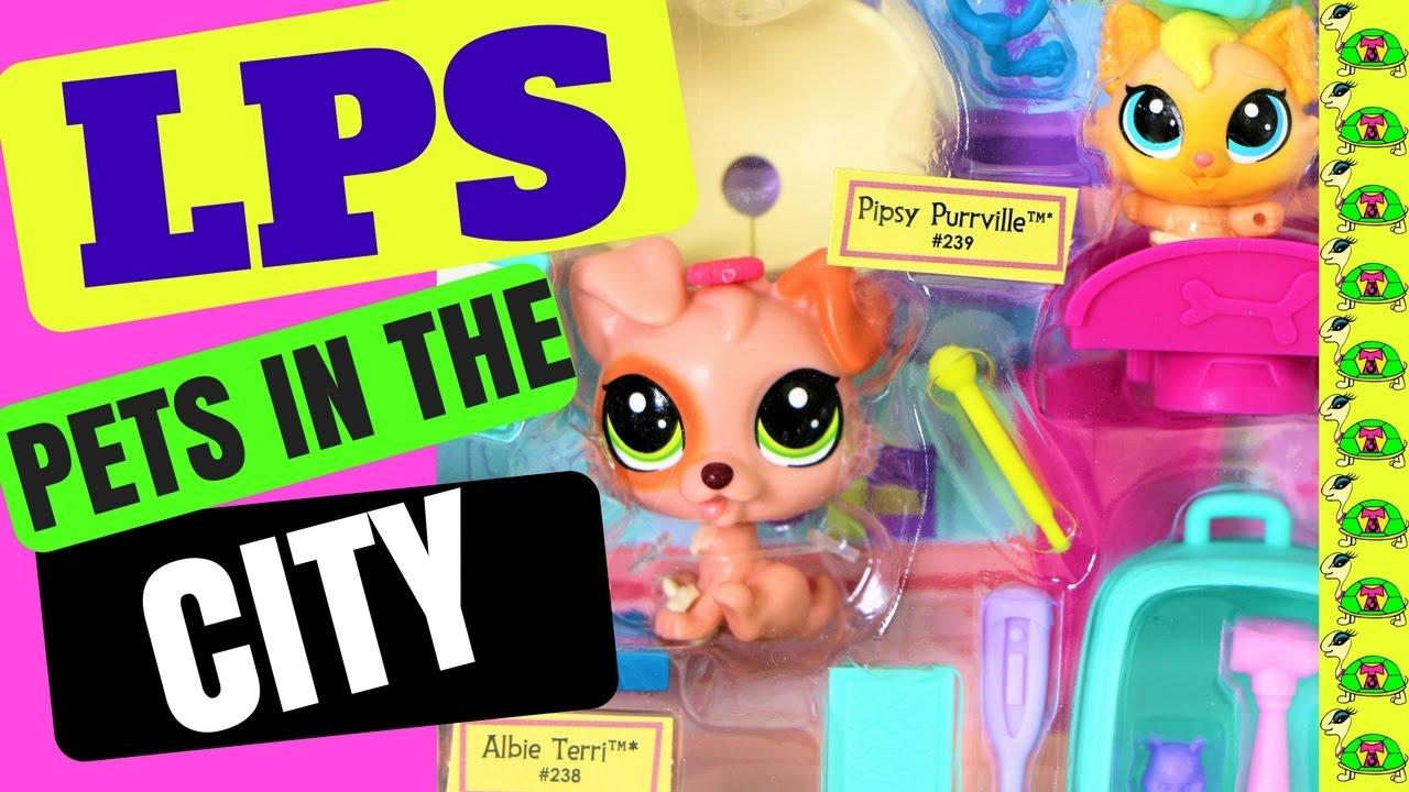 Littlest Pet Shop Pet Tales Vet Clinic Albie Terrie 238 Pipsy Purrville 239