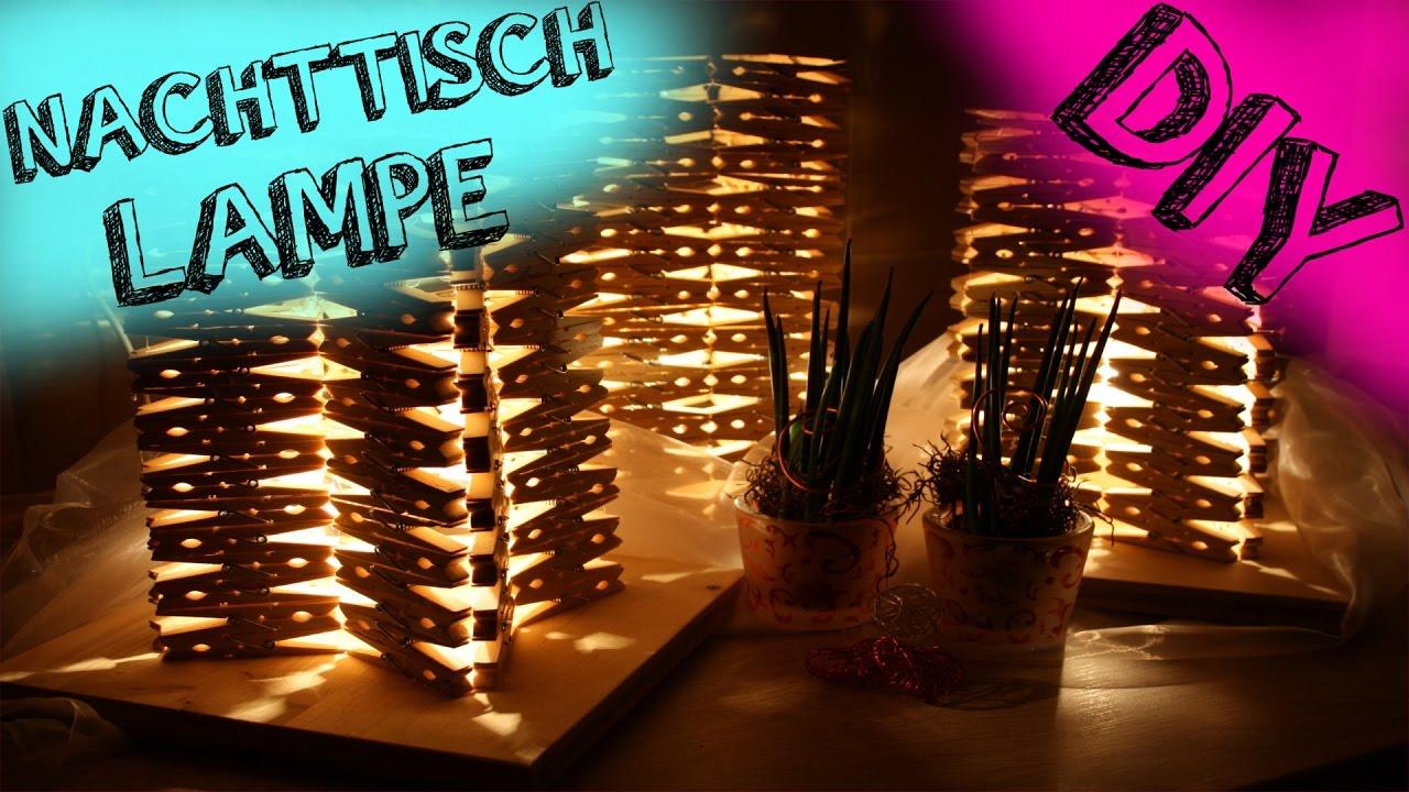 DESIGNER LAMPE AUS WÄSCHEKLAMMER - YouTube