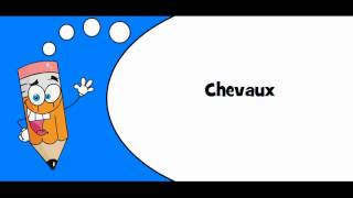 Pronounce like a French # Topic = Bétail, cheptel et petits animaux