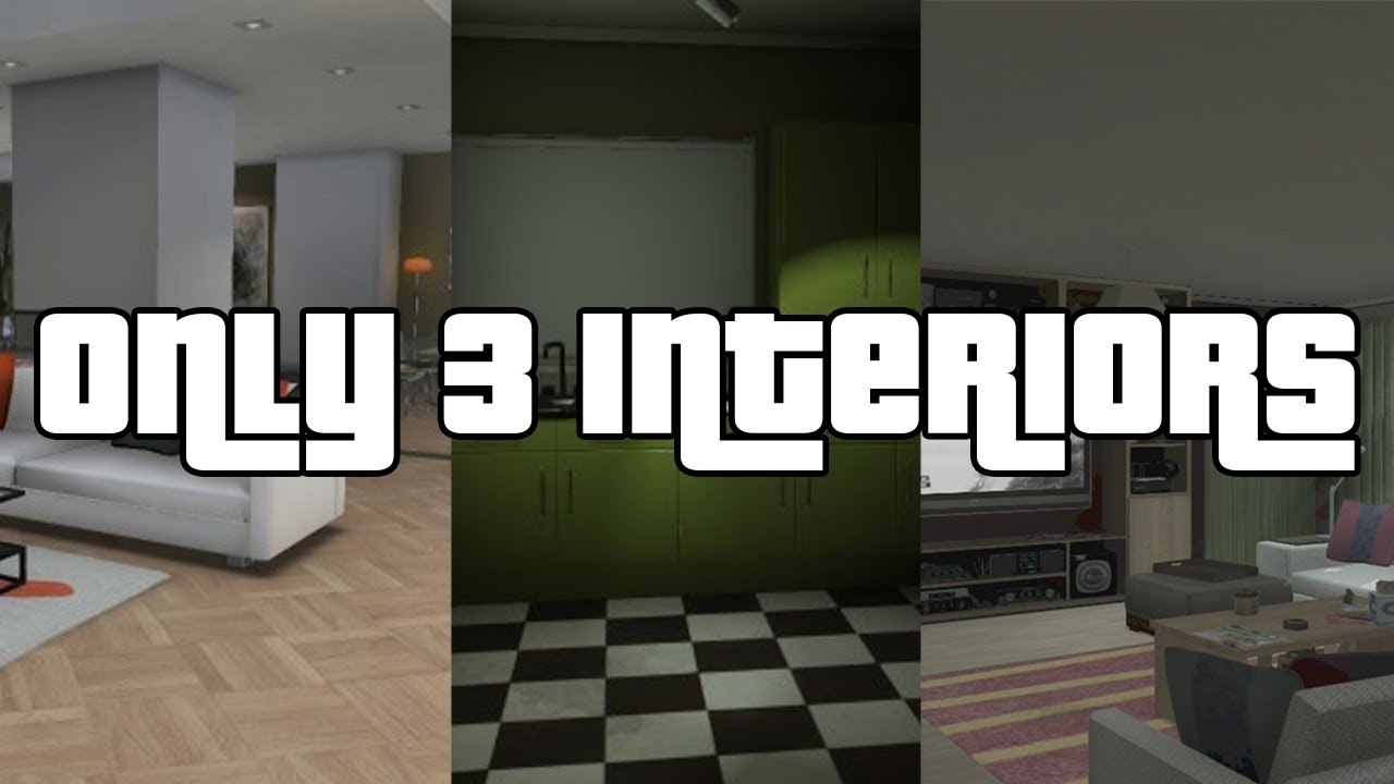 GTA V Online - Only 3 Apartment Interiors - YouTube
