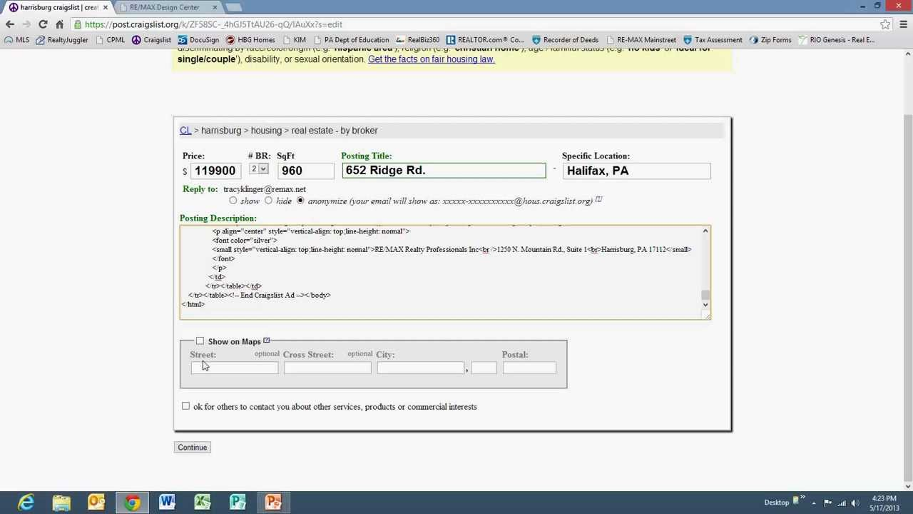 Design Center - How to Create a Craigslist Ad - Part 2 - YouTube