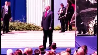 Trump Wanders Outside of Bulletproof Glass After Speech In Poland, Looks Like a Sad, Lost, Old Man
