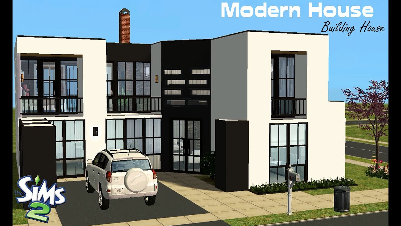 Sims 2 modern house building