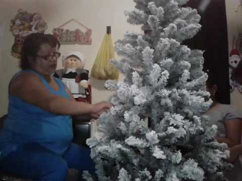 Our Christmas Tree Walmart Tree 30 Flocked Youtube