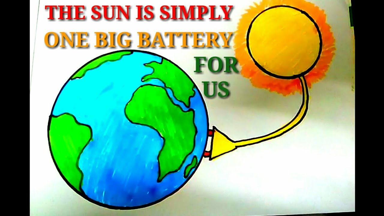 Easy Drawing On Solar Energy Save Energy Save