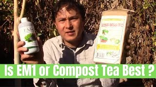 Is Compost Tea or EM1  Best For Beneficial Microbes for Your Garden?