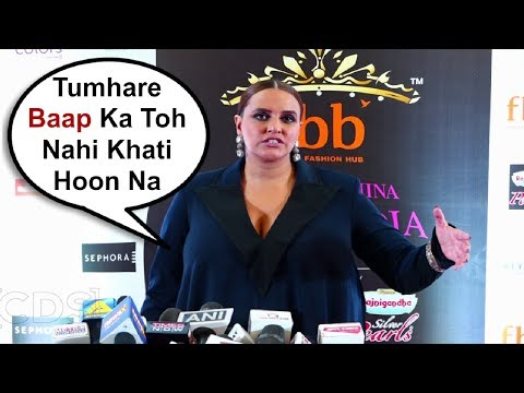 Neha Dhupia Angry Reaction When Asked About Her Weight Gain Post Pregancy
