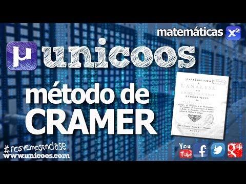 Sistema de ecuaciones - Metodo de CRAMER BACHILLERATO SCD determinante matriz
