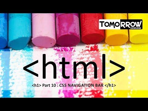 Tomorrow Knowledge : HTML Css Navigation Bar Part-10