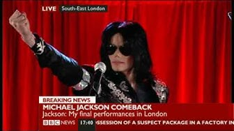 Michael Jackson announce comeback 2009 (This is It!)