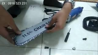 Chế máy cưa xích từ máy cắt cầm tay - Change chain from hammer machine