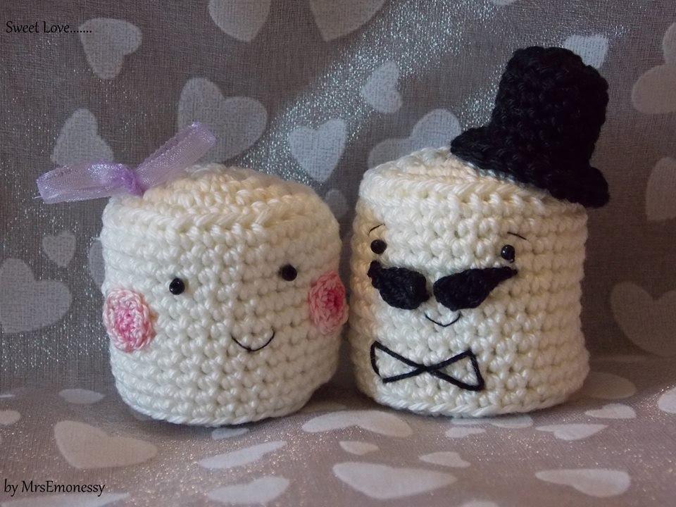 DIY Häkeln Marshmallow Brautpaar Gratisanleitung - YouTube