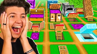So I Challenged 100 Players to Build SECRET Houses... - Minecraft